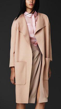 Burberry Prorsum Knitted Virgin Wool Shell Coat