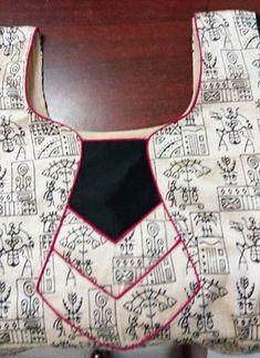 Saree Blouse Neck Designs, Salwar Kameez Neck Designs, Neckline Designs, Salwar Designs, Blouse Designs, Neck Patterns For Kurtis, Salwar Neck Patterns, Chudidhar Designs, Chudi Neck Designs