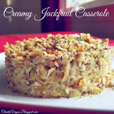 Read More About Creamy Jackfruit Casserole Going Vegetarian, Vegetarian Recipes, Vegetarian Breakfast, Vegetarian Options, Vegan Casserole, Chicken Casserole, Casserole Recipes, Vegan Options, Vegan Ideas