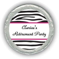 Zebra Retirement Chocolate Coins - affordable party favors!