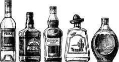 Bottles hand drawing vector design 03