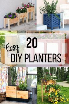 20 Easy and Amazing DIY wooden planter box ideas Great ideas! Easy DIY wooden planter box ideas to make. These 20 DIY planters can be used outdoor or indoors. Get inspiration and plans to build your own! Diy Wooden Planters, Diy Planters Outdoor, Wooden Diy, Outdoor Decor, Outdoor Gardens, Cactus Planters, Cedar Planters, Tall Planters, Awesome Woodworking Ideas