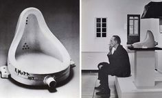 """The story is legend. Duchamp, wanting to submit an artwork to the """"unjuried"""" Society of Independent Artists' salon in New York presented an upside-down urinal signed and dated with the appellation """"R. Mutt, and titled Fountain. Michelangelo Paintings, Picasso Guernica, Tap Shoes, Dance Shoes, Barbara Kruger, Vladimir Kush, Marcel Duchamp, Willem De Kooning, Amigurumi"""