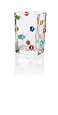 Glass Vase with Gems