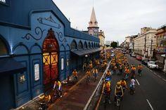 Ciclistas nos 388 anos do Ver-o-Peso, Belém do Pará - BRasil