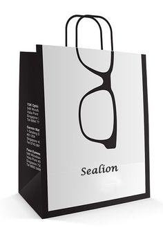 Optics Paper Bag Design on Behance Shopping Bag Design, Paper Bag Design, Glasses Shop, Glasses Logo, Optical Shop, Paper Gifts, Paper Bags, Creative Advertising, Grafik Design