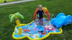 Samson in the sprinkler! 8/15