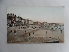 Antique c1910 Tinted Postcard. The Front & Beach, Weymouth (Dorset). Seaside