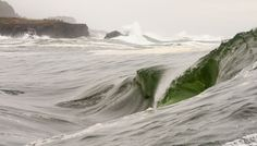 wave like a green glass bottle