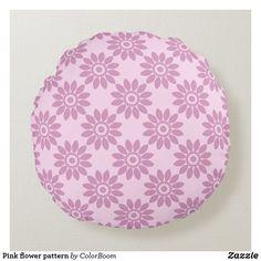 Pink flower pattern round pillow Pink Cushions, Blue Pillows, Soft Pillows, Throw Pillows, Light Blue Flowers, Pink Flowers, Flower Pillow, Round Pillow, Decorative Cushions