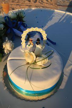 Wedding Cake with Lego Bride & Groom