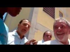 Sérgio Cabral maltrata e humilha criança carente enquanto Lula dá risada