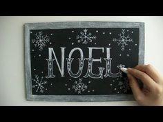 大人黒板!クリスマスに活躍するチョークアート(黒板アート)chalkart,DIY for CHRISTMAS