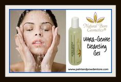 Natural Born Cosmetics Ultra Gentle Cleansing Gel - A low foaming cleanser that is completely soap and sulfate free. Used morning and evening it cleans skin gently and completely without disturbing the skin's delicately balanced lipid (pH) layer. Skins that are on the oilier side will love the gentle clean feeling that gets deep down to the pores without assaulting or stripping down the skin's mantle.