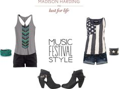 """""""Music Festival Style"""" by sarahkayatchley ❤ liked on Polyvore"""