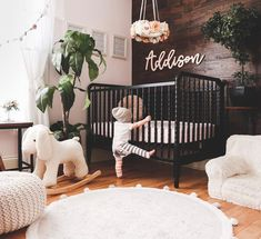 love this interior design! It's a great idea for home decor. Home design. I love this interior design! It's a great idea for home decor. Home design. - -I love this interior design! It's a great idea for home decor. Home design. Baby Bedroom, Baby Boy Rooms, Baby Boy Nurseries, Nursery Room, Girl Nursery, Kids Bedroom, Black Crib Nursery, Boho Nursery, Dark Wood Nursery