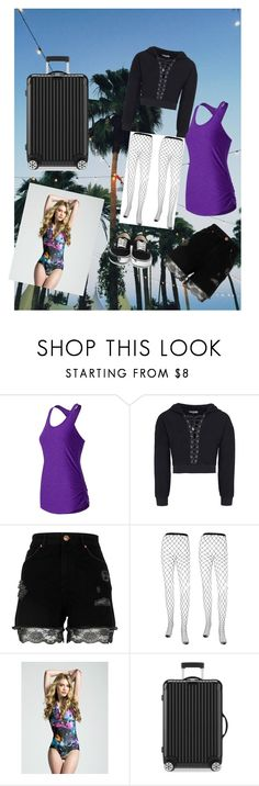 """""""Packed for Summer"""" by the-black-dream ❤ liked on Polyvore featuring New Balance, River Island and Rimowa"""