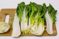 Bok choy, also known as pak choi, is a member of the cabbage family that is frequently used in Asian recipes, especially stir fry. Bok choy can also be a delicious and healthy side dish on its own with a few light seasonings. Healthy Side Dishes, Vegetable Dishes, Vegetable Recipes, Vegetarian Recipes, Cooking Recipes, Healthy Recipes, Healthy Foods, Fit Foods, Cooking Tips