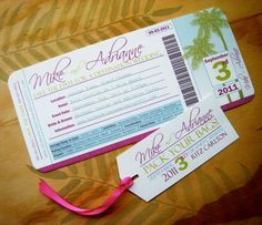 Cute save the date for destination wedding