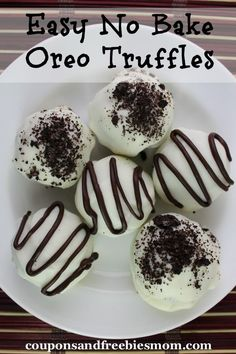 Easy No Bake Oreo Truffles;