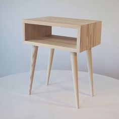 Beautiful mid-century contemporary bedside table form Etsy ($117).
