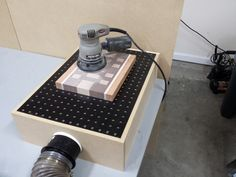 Downdraft Sanding Table Box tutorial made from scrap lumber and pvc piping.