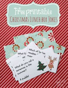 Christmas Lunch Box Jokes - our kiddos have LOVED this addition to their lunches!