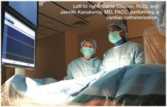 Carrie Clayton, RCIS, and Jeevith Kanukunta, MD, FACC. From Judkins N, Williams B. Spotlight interview: Piedmont Henry Hospital. Cath Lab Digest Apr 2012;20(4):1-24.