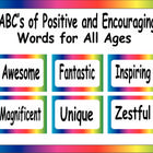 FREE! These are positive and encouraging words for students and teachers to use - one for each letter of the alphabet. There are 67 pages in this downloa...