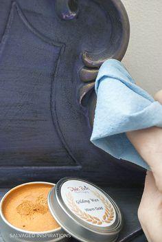 Applying Warm Gold Gilding Wax