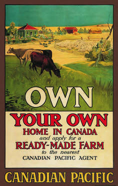 o Canada. Own Your Own Home in Canada vintage Canadian Pacific Poster to encourage immigration Canadian Things, I Am Canadian, Canadian Travel, Canadian History, Canadian Symbols, Canadian Memes, Canadian Culture, Travel Ads, Travel Photos