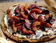 Summer love! Grilled Stone Fruit Pizza with Nectarine, Peaches, and Plums #recipe by @womenshealthmag