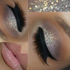 Motives Gem Sparkles Eye Shadow Tutorial - Make up - Eye Makeup Gem Makeup, Silver Eye Makeup, Glitter Makeup, Eyeshadow Makeup, Bridal Makeup, Wedding Makeup, Makeup Brushes, Pink Eyeliner, Matte Lipstick