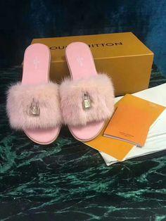 6bed9f194d6a Louis-Vuitton-Lock-It-Padlock-Flat-Mule-Sandals