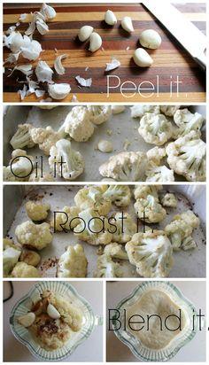A creamy, vegan, cauliflower alfredo sauce. Vegan Cauliflower, Alfredo Sauce, Plant Based Recipes, Artichoke, Stuffed Mushrooms, Vegetables, Food, Stuff Mushrooms, Veg Recipes