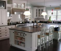 Traditional Island Style Light Blue kitchen, white cabinets, Robin Amorello, CKD, Other