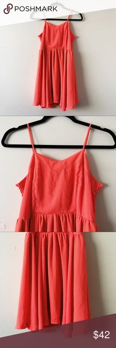 d.RA Coral Swing Dress • brand: d.RA  • condition: NWT  • size: small  • description: coral swing flowy dress. stretchy bust area and zipper closure  bundle to save 💵! no trades/holds/try-ons. will try to answer all questions asap. no price negotiations in comments.  ✨happy shopping!✨ d.ra Dresses Mini