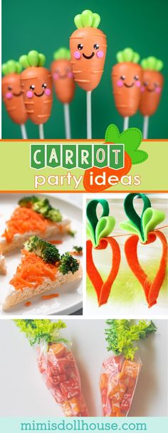 Easter: Creative Carrot Party Ideas for Easter.  How about some creative carrot party ideas for your Easter celebration?  I'm sharing some cute ones today… Be sure to check out all of our Easter party ideas and inspiration. via @mimisdollhouse