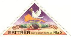 Stamp issued by the Eritrean Postal Services  on the occasion of Martyr's Day June 20th 2003