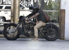 David Beckham Photos - Exclusive: Soccer star David Beckham out doing some shopping and cruising his motorcycle on Melrose Ave in West Hollywood, California on July - David Beckham Out Shopping On Melrose Bobber Motorcycle, Bobber Chopper, Cruiser Motorcycle, Cool Motorcycles, Vintage Motorcycles, Style Ibiza, David Beckham Photos, Porsche, Bobber Style
