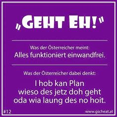 Geht eh... Me Quotes, Funny Quotes, Funny Memes, Pure Fun, Idioms, Teenager Posts, True Stories, Austria, Printed Shirts