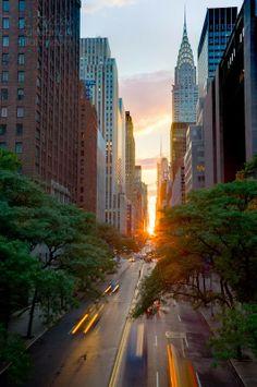Manhattanhenge, NYC