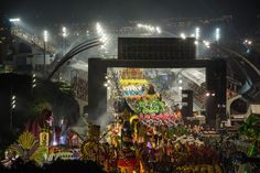Revellers of the Dragoes da Real samba school parade during the second night of Carnival in Sao Paulo on February 18, 2012. (Yasuyoshi Chiba/AFP/Getty Images)