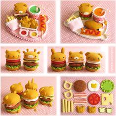 ましゅまろあざらし(・ω・)ROOM 2009年09月 Disney Diy Crafts, Dyi Crafts, Felt Crafts, Diy For Kids, Crafts For Kids, Diy Kids Kitchen, Felt Food Patterns, Felt Play Food, Cute Clay