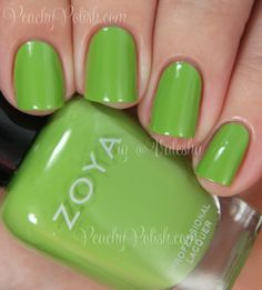 Zoya: Summer 2014 Tickled and Bubbly Collection: Tilda Green Nail Polish, Zoya Nail Polish, Green Nails, Nail Polish Colors, Nail Polishes, Zoya Collection, Nail Polish Collection, Spring Nails, Summer Nails