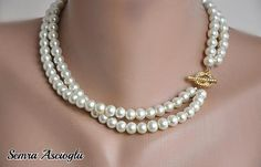 Brides bridesmaids gifts Chic Elegant Pearl by HMbySemraAscioglu, $35.00