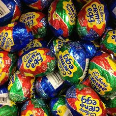 It's that time of year, again... YES!!!Cadbury Creme Eggs, my favorite candy ever!