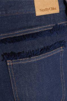 Dark-blue stretch-denim Button fastenings along sides 95% cotton, 4% polyester, 1% elastane Dry clean  Designer color: Indigo ImportedAs seen in The EDIT magazine