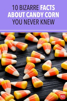 Whether you love it or don't, you'll want to learn all about this iconic Halloween treat with these interesting facts about candy corn. #halloween #halloweencandy #candycorn #candy Halloween Candy, Halloween Stuff, Happy Halloween, Corn Feet, 100 Calorie Snacks, Yellow Candy, Bizarre Facts, Confectioners Glaze, Sustainable Food