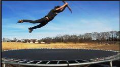 Trampolin Skating Hoher Christ Air, Tramp Skating... Skateboard Trampolin Springen!